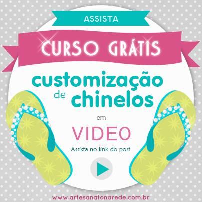 Curso de customização de chinelos GRÁTIS!