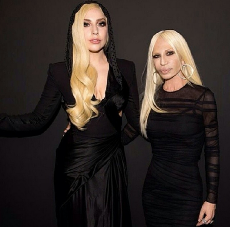 Lady Gaga and Donatella on the backstage from Versace's Haute Couture show! It was beautiful ★★★★★